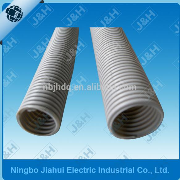 JHCM50 50MM Australian Standard MD Grey PVC Flexible Corrugated Electrical Conduit Plastic Pipes Ripple Tube