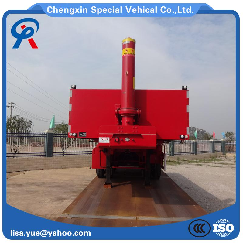 50ton hydraulic dump semi trailer with good quality