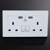 Double USB Australian UK Plug Wall Socket Home Power Point Supply Plate