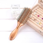 Eco-friendly Portable Travel Gold Custom Plastic Hair Extension Brush