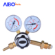 Pressure gas regulator oxygen regulator with two pressure gauges for industrial cutting purpose
