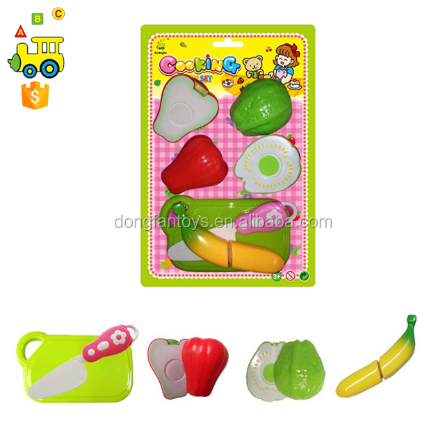 hot toys for christmas 2017 Gift Children Plastic free vegetables and fruit play set