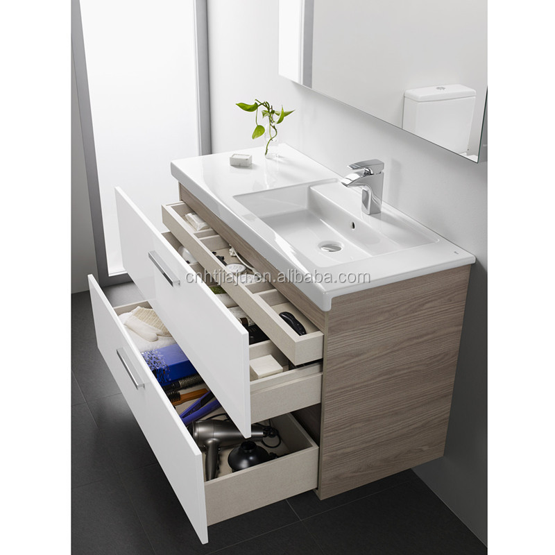 High Quality Modern Wall Mounted Bathroom Vanity With Side Cabinet
