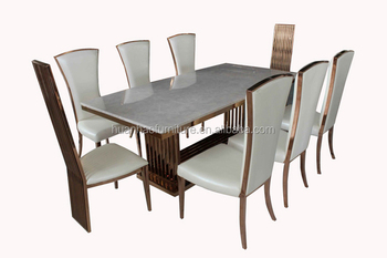 German Style Marble Top Dining Table