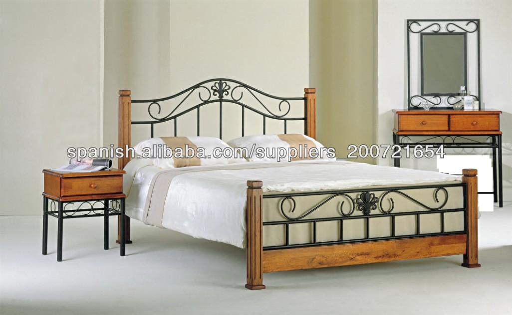 cabeceros de madera de metal cama fabricados en China-Camas de metal ...