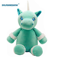 Brand Embroider LOGO Mint Green Unicorn Plush Wholesale Custom Cute Kids Stuffed Animal Soft Unicorn Plush Toy