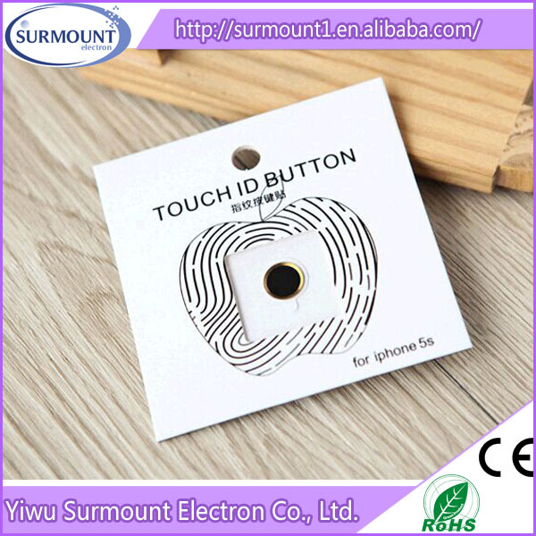 Hot Selling Top Quality Touch ID Button Home Button Sticker For Iphone 5s /  Iphone 6