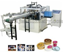Colorful disposable ice cream cup paper lid machine