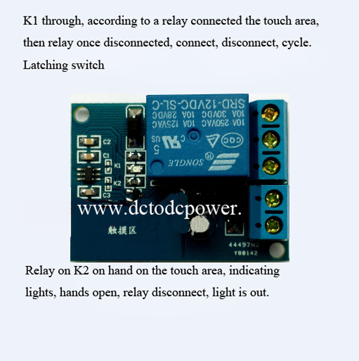 Touch Trigger Relay Module Control Panel Touch Switches 12v Low ...