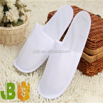 Disposable Pp Non Woven Hotel Bathroom Slippers Closed At The Front For Women