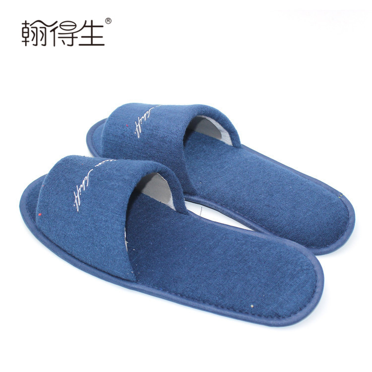 very competitive price custom printed house guest slippers