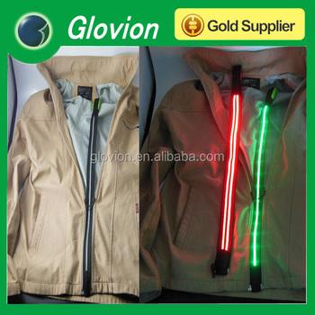 Outdoor Sports Fiber Led Zip Light Led Light Zipper Zipper With ...