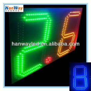 waterproof digital price tag outdoor single color led display p10 gas station price sign