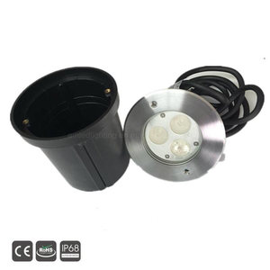 3x3w ip68 dc 24v 316ss led recessed underwater pool