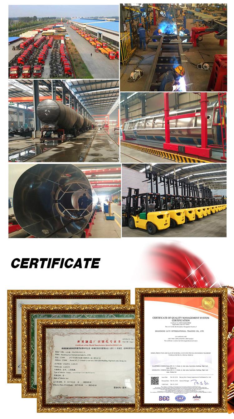中国供給貨物フラットベッドトレーラー側壁コンテナトレーラートラック