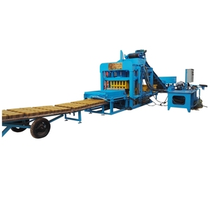 color faced paver making machine QT 4-20 cement concrete interlocking pavers block making machine in Nepal