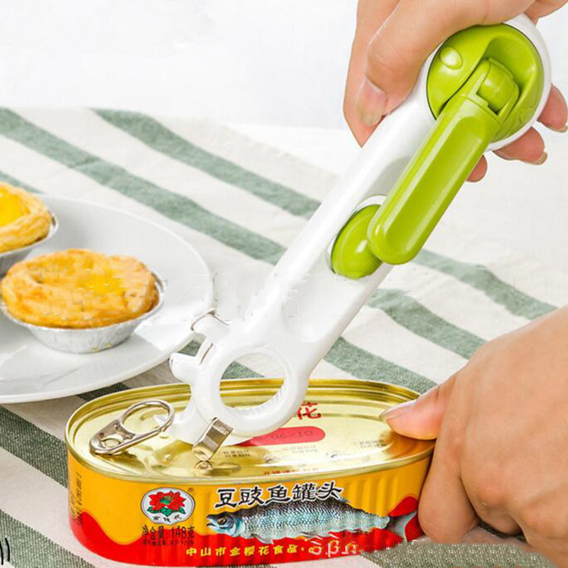New Practical 7 in 1 Multi-Function Bottle+Can+Jar Opener Beer Wine Soda Easy Unbolt Kitchen Cando Cooking Tools