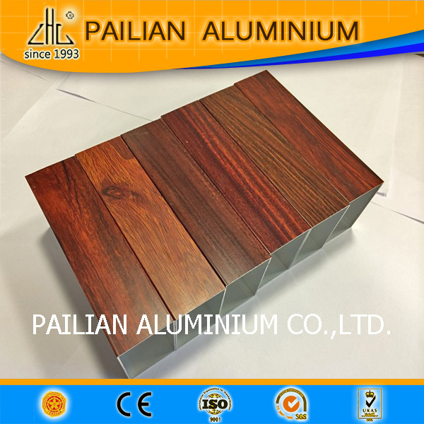 HOT!aluminium alloy 6063t5 extrusion profile for windows and doors,hand feeling wood grain aluminum stage platform leader