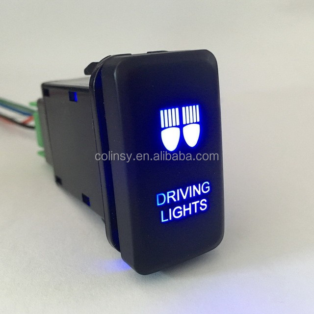 12v Dc Car 4 Wiring Led Light Bar Switch Push Button Switch On Off ...