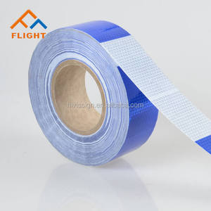PVC Blue White Reflective Tape For Safety