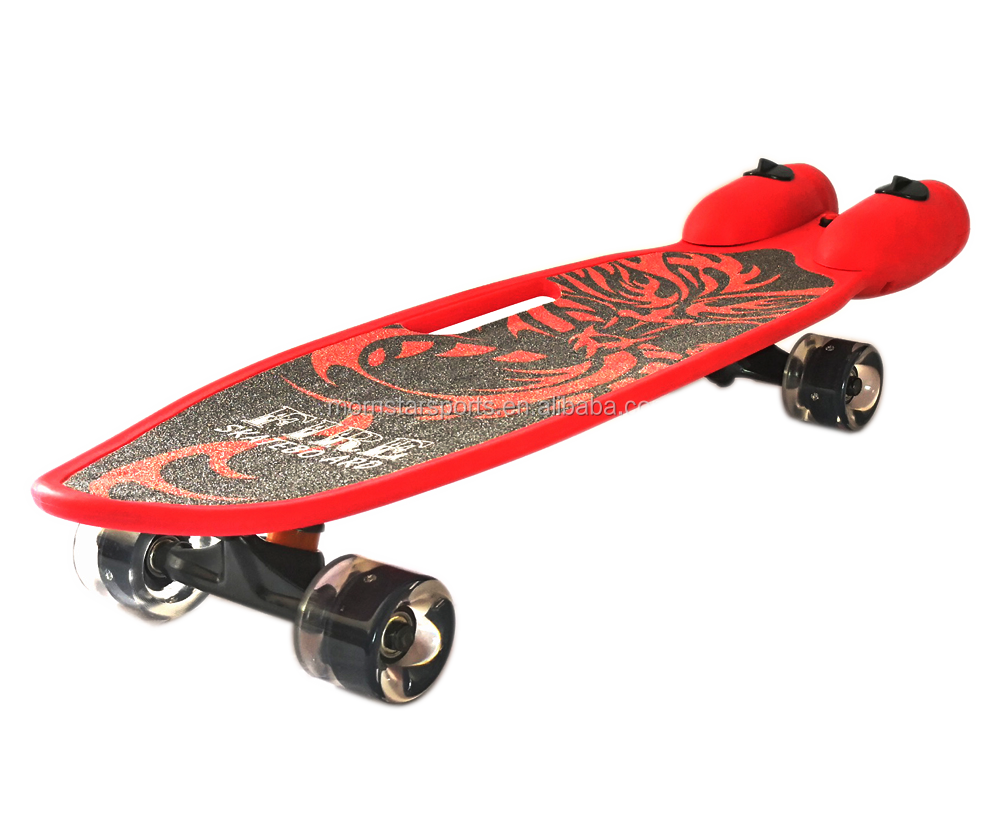 28 Inch Jet  Plastic Skateboard with Music Lights and Smoke