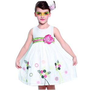 hand embroidery designs for dress little girls cotton summer dresses