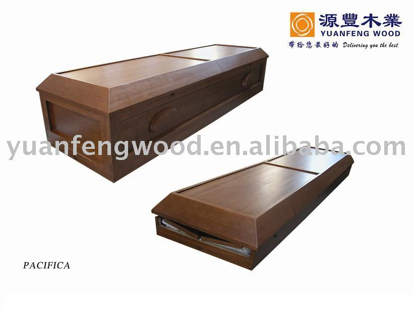 PACIFICA folded wood coffin paper cardboard cremation casket