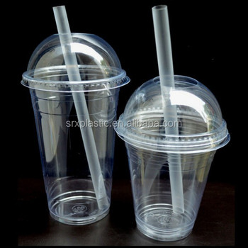 Clear Plastic Smoothie Milk Shake Cups Domed Lids 12 Oz 16 Party Custom Disposable Cup Whole Manufacturer