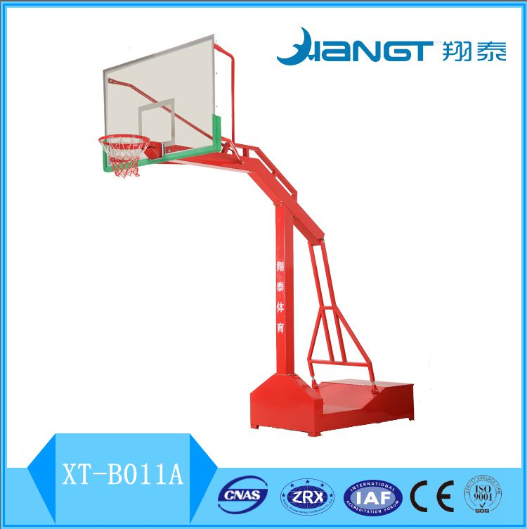 Hot sales most competition FIBA standard hydraulic basketball staglass fiber backboard basketball stand Movable basketball hoops