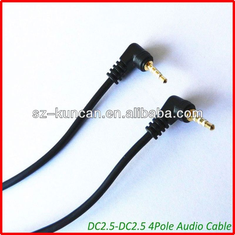 trs/trrs 2.5mm 3.5mm stereo audio cable right angle DC power cable 10ft