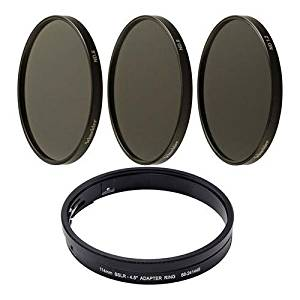 """Schneider Compact Neutral Density Kit for 114mm/CP.2, Includes 4.5"""" Neutral Density 0.6/0.9/1.2 Filter, 114mm SSLR to 4.5"""" Adapter Ring"""