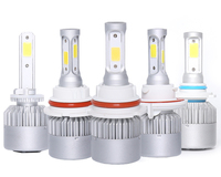 Car led headlights bulb 80W 9000 lumens L4 H1 H3 H7 H10 H11 H13 9006 9005 H4 cob led headlight kit
