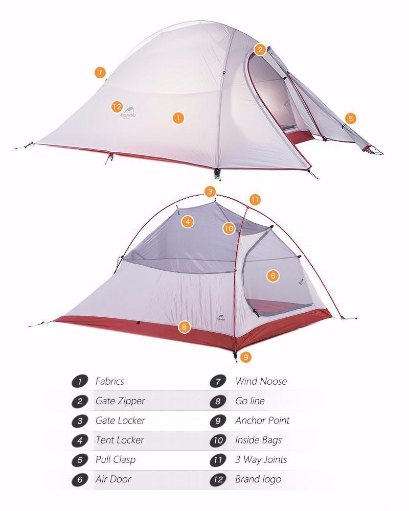 NatureHike 2 Person Ultralight Tent - free shipping worldwide