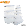 Wholesale durable multi purpose 5L-130L transparent stackable plastic box storage