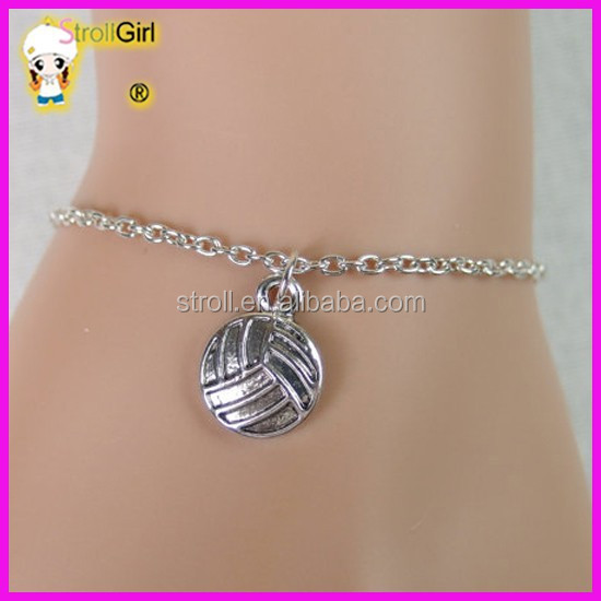 925 Sterling silver volleyball bracelet - volleyball ball jewelry for gifts