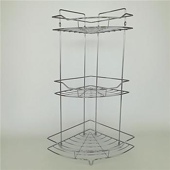 3tier Corner Bathroom Caddy Basket Chrome Plated Metal Wire Free ...