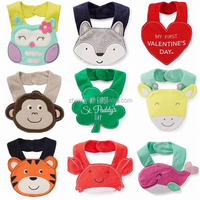 Red Cow Style Baby Cotton Bibs With Caps Bonnet