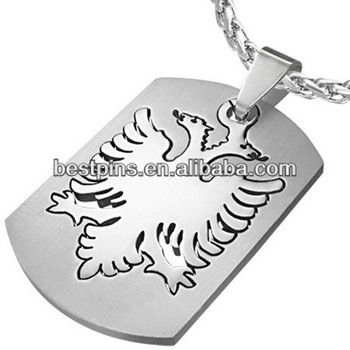 Steel albanian eagle dog tag pendant with chain buy eagle dog tag steel albanian eagle dog tag pendant with chain aloadofball Gallery