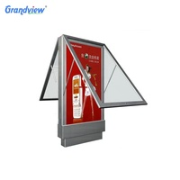Outdoors advertising signage led bus stop shelter billboard