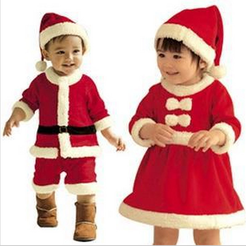 Buy Boys And Girls Boutique Sets Cotton Christmas Outfits Santa ...