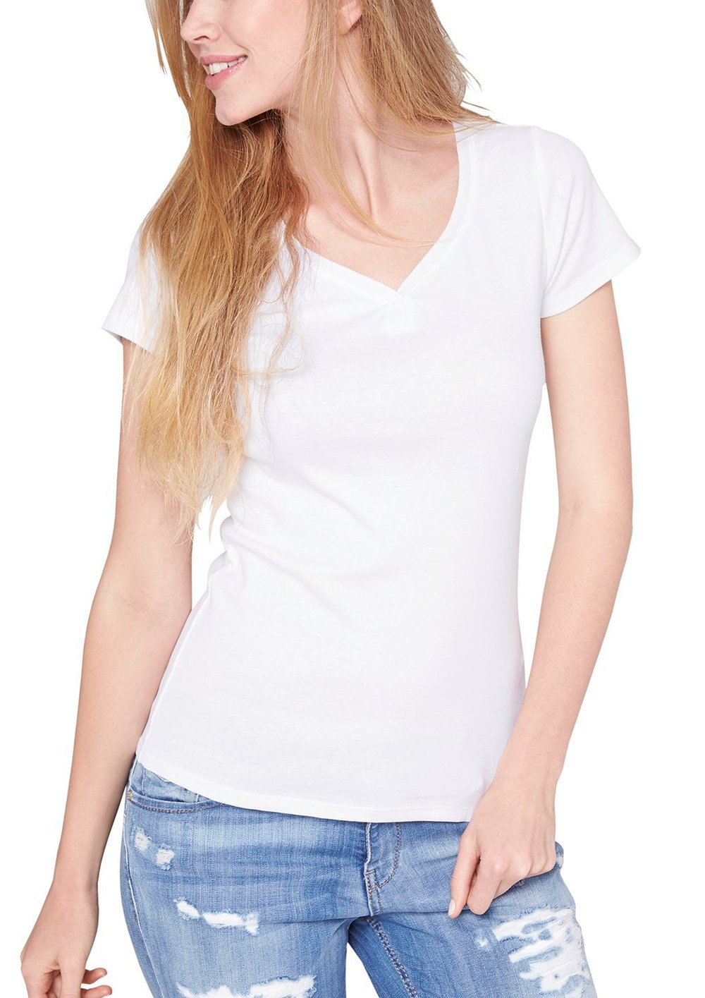 6bcf818f Women Plain White Tshirt,Custom T-shirt Lady V Neck,T Shirt Softextile -  Buy Women Plain White Tshirt,Custom T-shirt Lady V Neck,T Shirt Softextile  ...