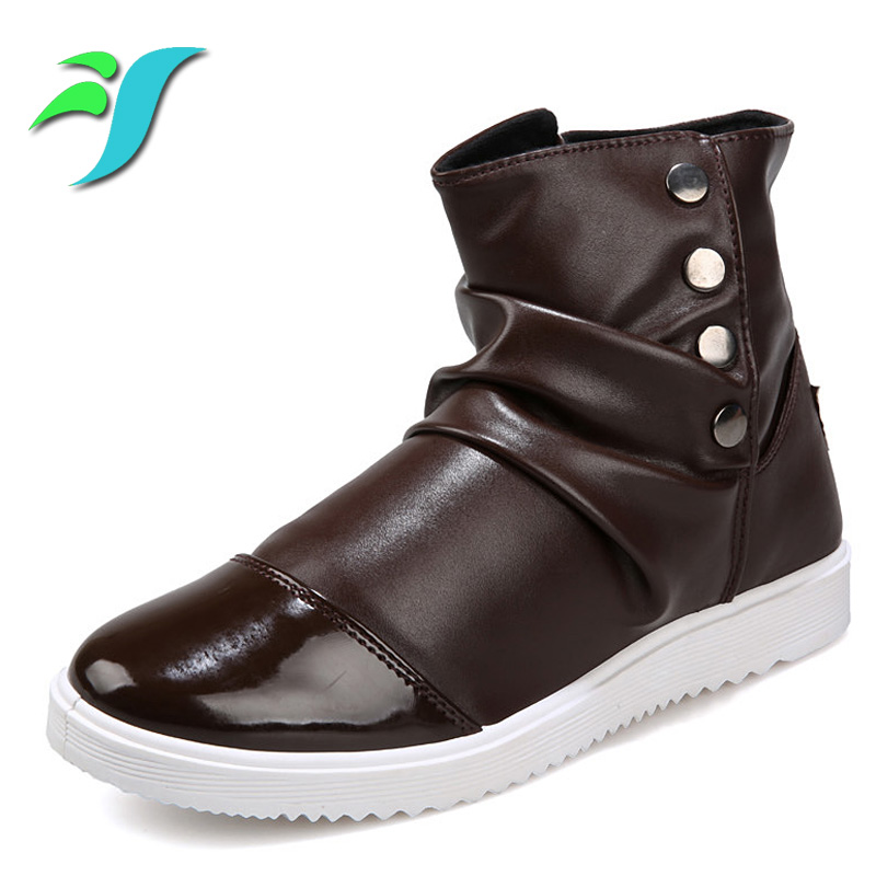 Mens Leather Brown Buckle Shoe