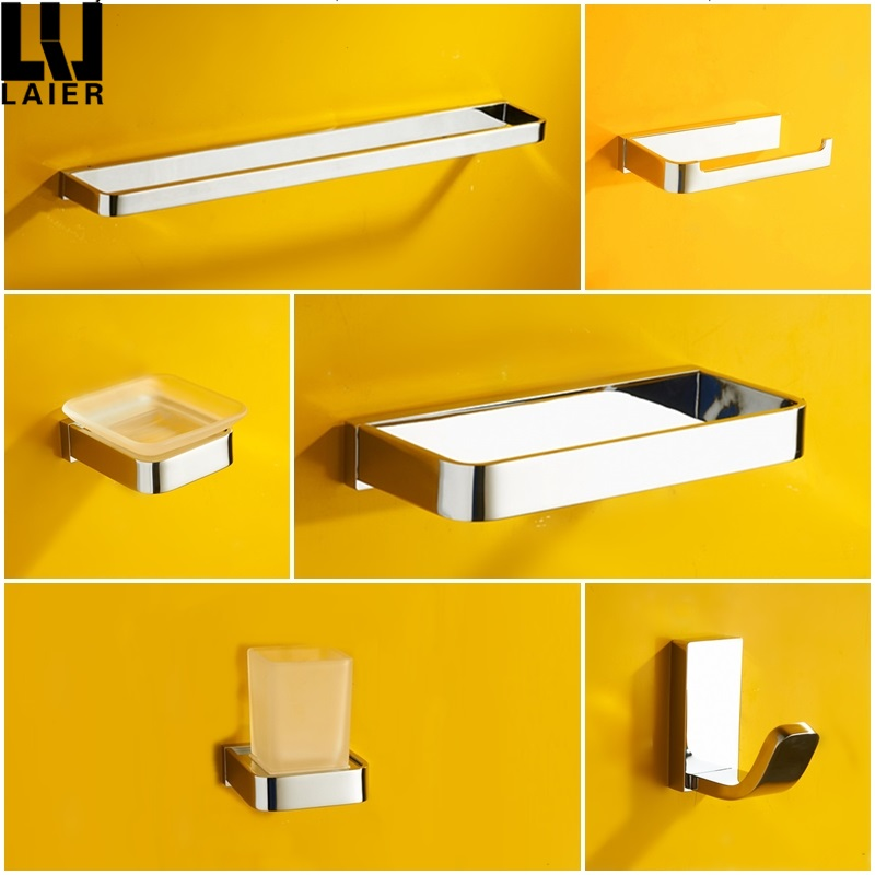 Hot Ing Bath Hardware Set Br Chrome Finishing Wall Mounted Bathroom Accessory Accessories