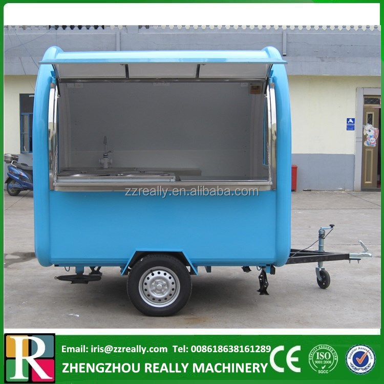 CE approved Outdoor street mobile Vans/ hotdog vending carts/ food Vending cart