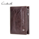CONTACT'S Cow Leather Wallet inserts Factory Zip Coin Pocket Money Holder Wallet for Man