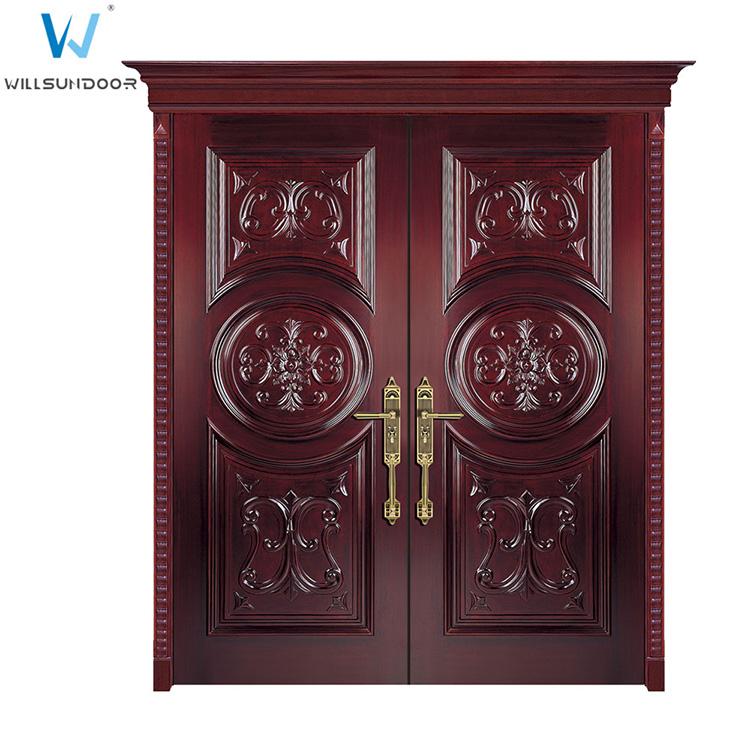 Security Antique Carved Villa Front Double Wood Door Designs. Product  Description. WD-23 ... - Security Antique Carved Villa Front Double Wood Door Designs - Buy