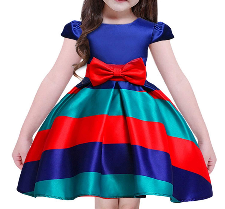 ac8ae7b11b6 Get Quotations · M-Sea Girls Flower Dresses Birthday Party Wedding Dress  for Toddler Kids