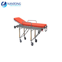 Hot selling hospital stainless steel emergency ambulance stretcher trolley
