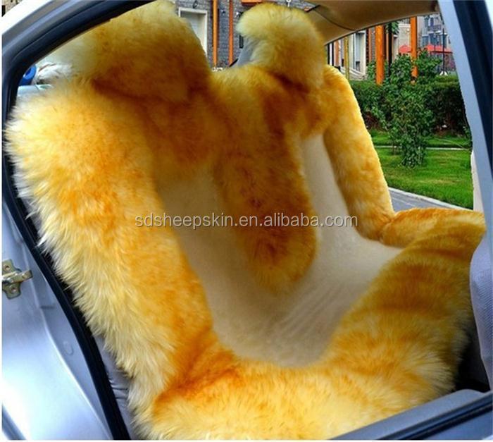 Long Wool And Short Sheepskin Coach Car Seat Cover