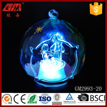 Yangzhou baoying transparent open glass ball ornaments